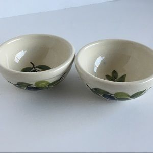 Olive oil bowls Greece ceramic signed hand painted